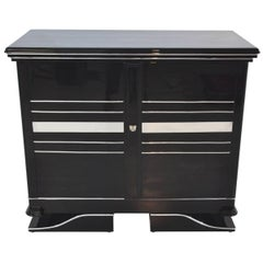 Chrome Commode Art Deco Design