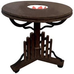 Ebony Anglo-Indian Table with Inlaid Bowl