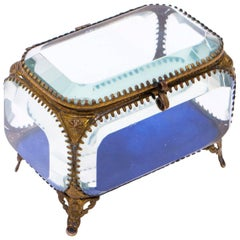 19th Century French Ormolu and Glass Table Wedding Casket