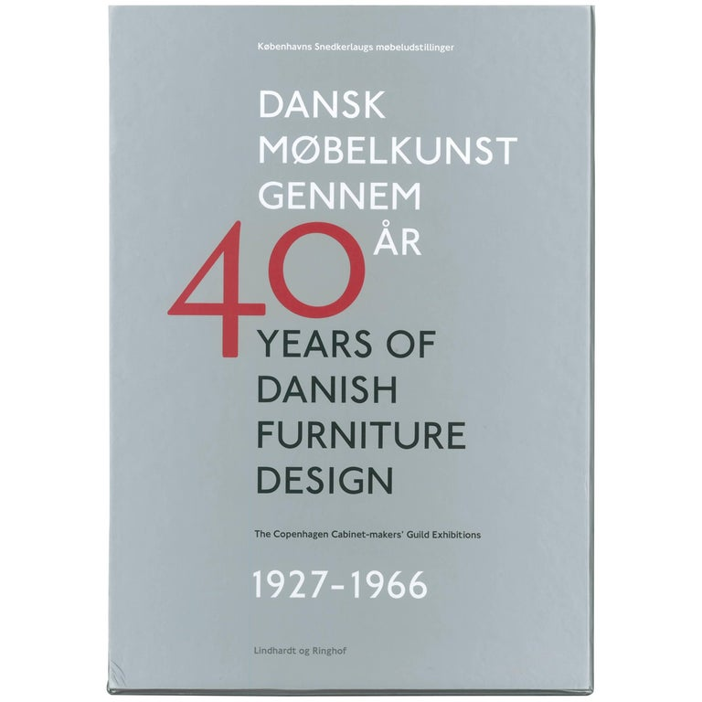 40 Years of Danish Furniture Design, Set of Four Books