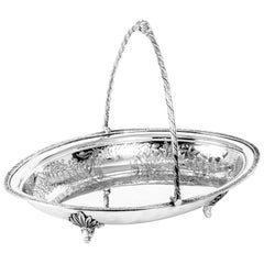 19th Century Victorian Silver Plated Fruit Basket James Deakin