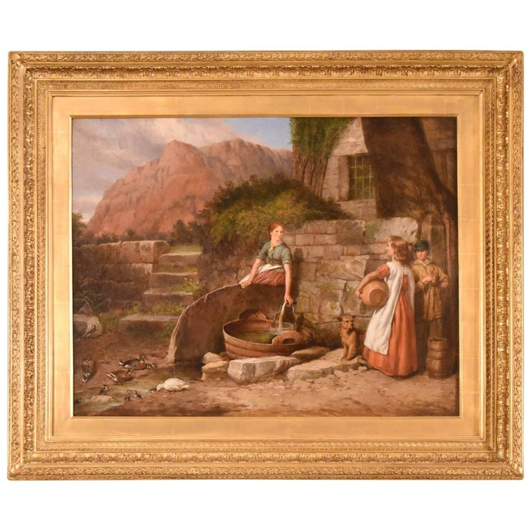 """At the Well"" Painting by Charles Landseer R.A"