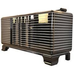 High Gloss Art Deco Buffet or Chrome Liner Sideboard