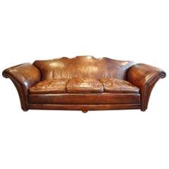 Edwardian Country House Leather Sofa