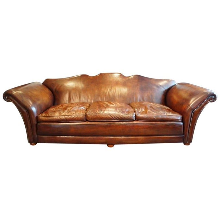 Country Leather Sofa: Edwardian Country House Leather Sofa At 1stdibs