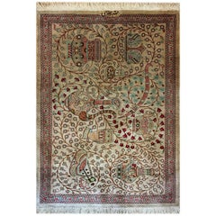 Magnificent Silk Carpet, Persian Silk Rugs from Qom