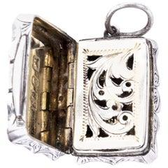 Antique Victorian Silver Vinaigrette Edward Smith, 1864