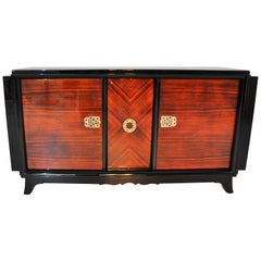 Art Deco Bar Sideboard with Macassar Veneer