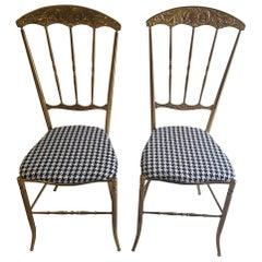 Chiavari brass Chairs 1960's Italy