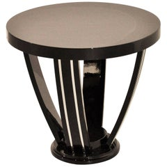 Black Art Deco Side Table, circa 1925