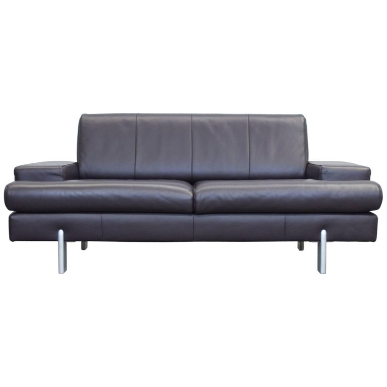 Bmp Rolf Benz Designer Leather Sofa Aubergine Lilac Two