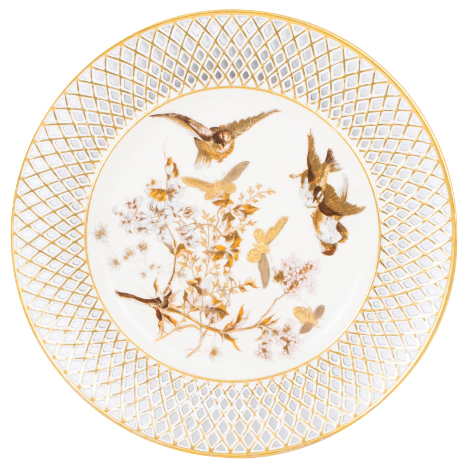 Early 20th Century Pirkenhammer Porcelain Cabinet Plate