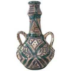 20th Century Green Glazed Terracotta Jars