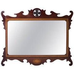 Early 20th Century Edwardian Mahogany Inlaid Marquetry Mirror - 93 x 113 cm