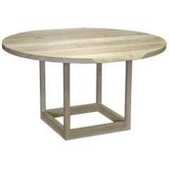 Sentient Flow Round Pedestal Table in Ambrosia Maple with Live Edge