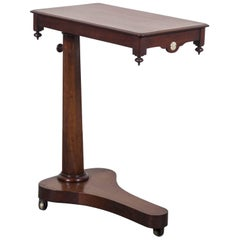 Antique English Mahogany Tilt Top Reading Table, circa 1840