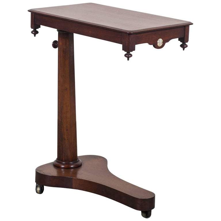 Antique english mahogany tilt top reading table circa for England table
