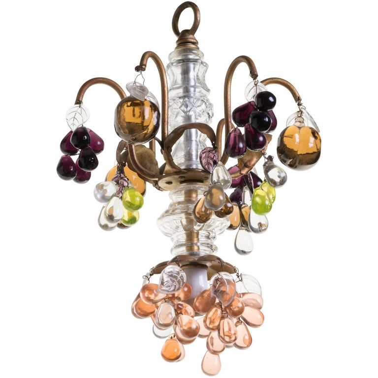 Small italian glass fruit chandelier for sale at 1stdibs small italian glass fruit chandelier for sale mozeypictures Images