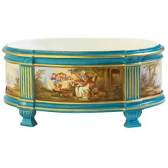 19th Century French Hand Painted Porcelain Centerpiece