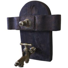 French Wine Barrel Door with Bronze Spout