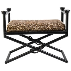 Metal Bench with Abstract Ornament