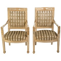 Pair of Turn of the Century French Regency Armchairs