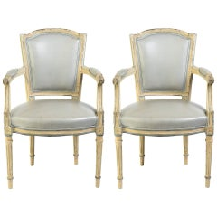 Pair of Turn of the Century Louis XVI French Armchairs