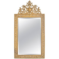 19th Century English Brass Mirror
