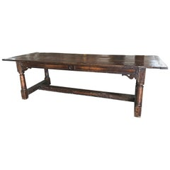 Antique Oak Farm Table, circa 1850