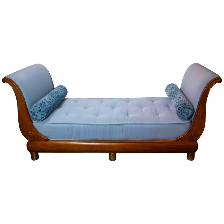 Chaise longue sleigh style daybed 19th century for sale for Chaise longue montreal