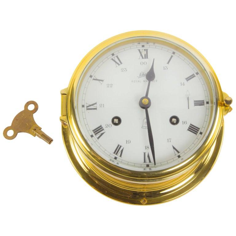 Schatz Royal Mariner Ships Brass Bell Clock At 1stdibs