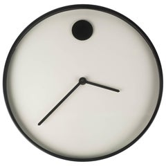 Wall Clock by George Horwitt for Howard Miller, White, Black Frame, 1970