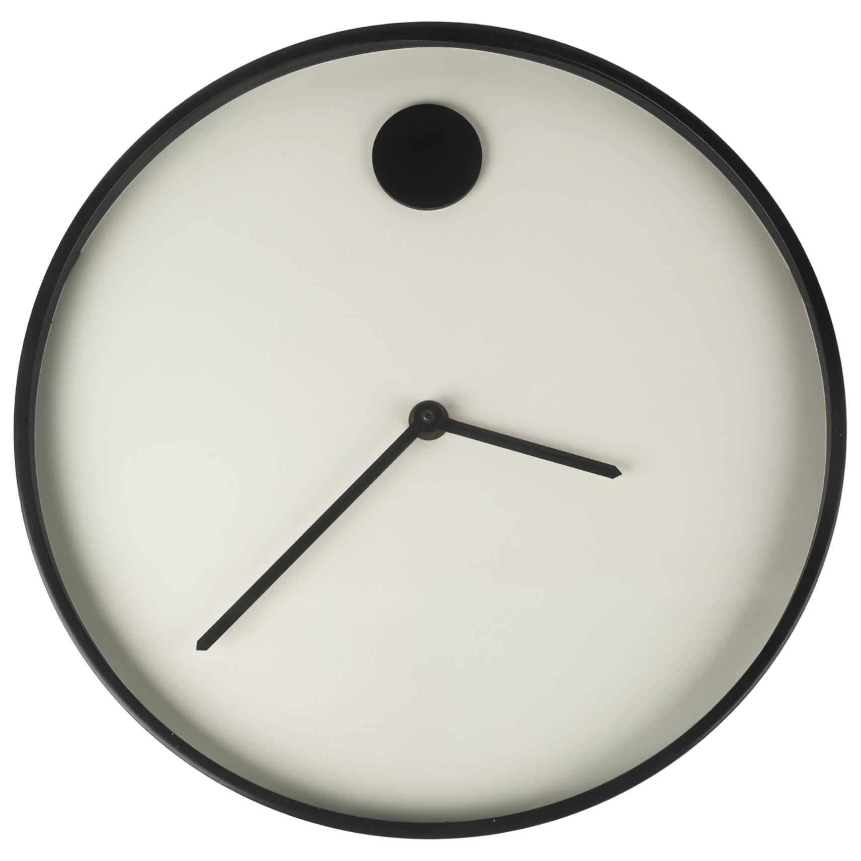 wall clock by george horwitt for howard miller white black frame