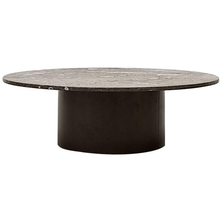 Rare Round Fossil Metaform Coffee Table 1