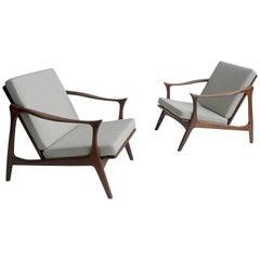 Arne Hovmand Olsen Lounge Chairs by Mogens Kold, Denmark, 1954