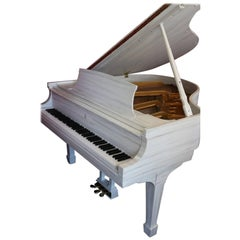"""""""The White Driftwood"""" Steinway Customized Art Case Piano Model S"""