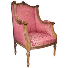 "French 19th Century Louis XVI Bergere ""En Confessionnal"""
