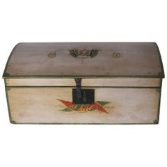 Fancy Painted Basswood and Pine Dome-Top Box