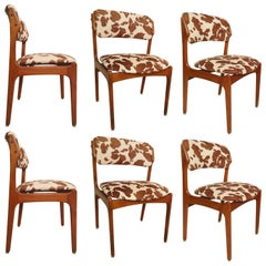 Set of Six Erik Buch Cowhide Chairs