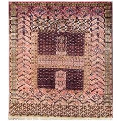 Antique Turkoman Engsi Hatchli Rug
