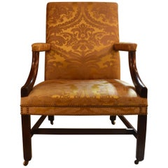 Antique English Mahogany Gainsborough George III Style Chair