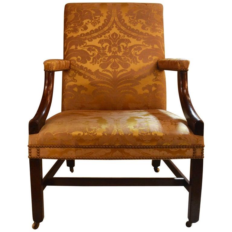 Antique English Mahogany Gainsborough George III Style Chair