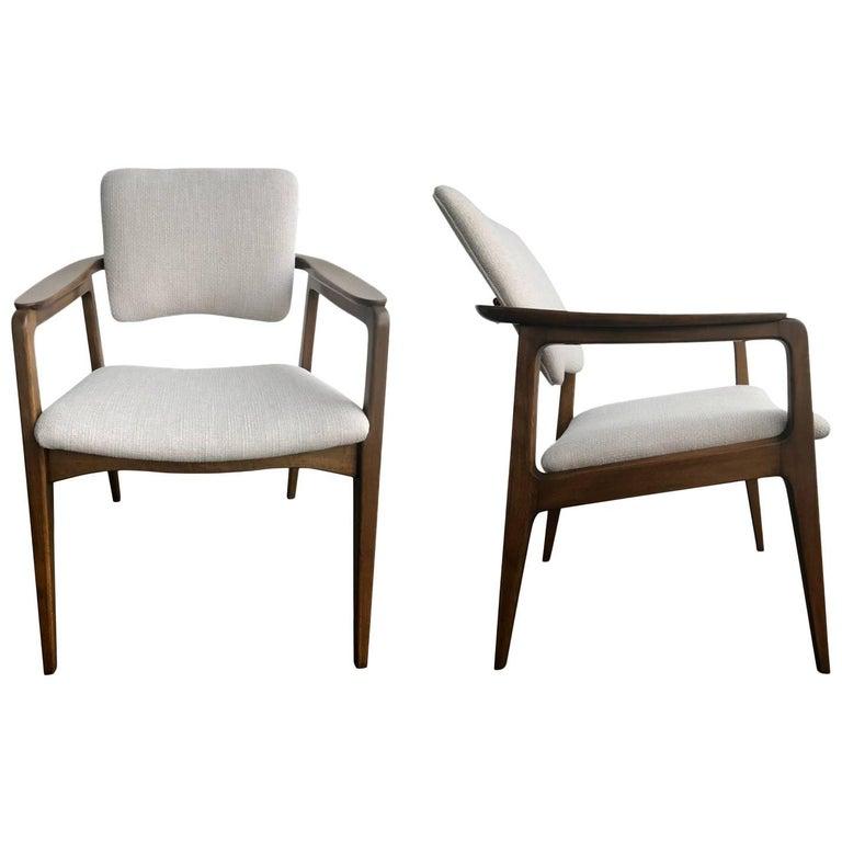 Restored Tilt Back Chairs by Sigvard Bernadotte for France & Daverkosen