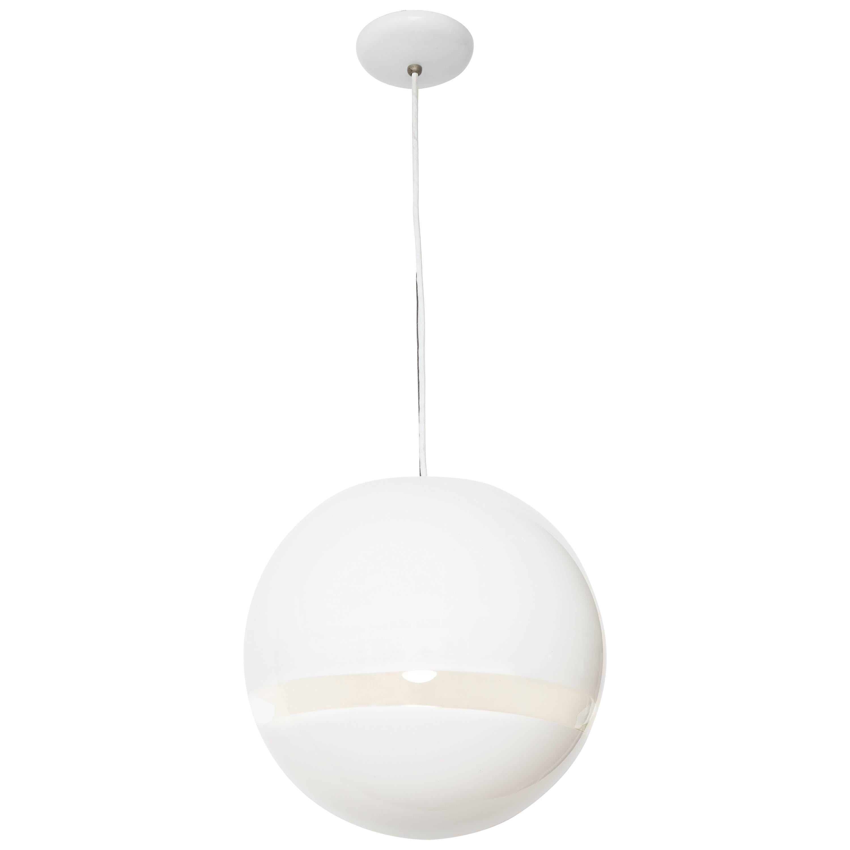 Mazzega Murano Mid-Century Globe Pendant Light, Italy 1960s
