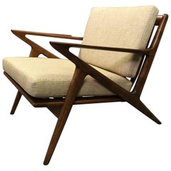 Scandinavian Modern Z Lounge Chair By Poul Jensen For Selig