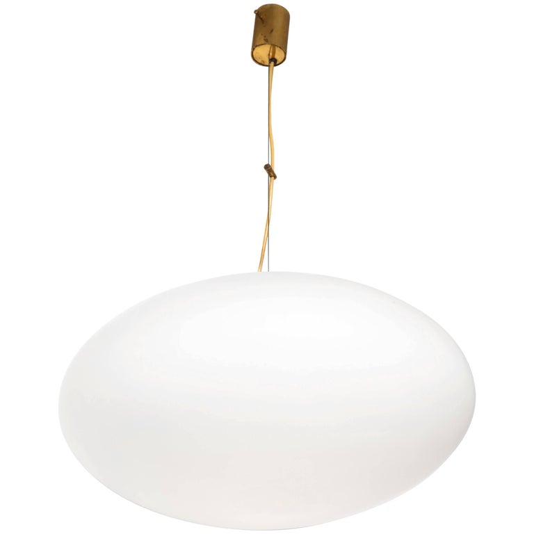 Stilnovo Mid-Century Oval Pendant Light 1