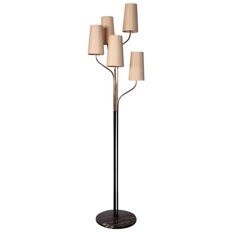 Italian Floor Lamp with Cascading Shades 1