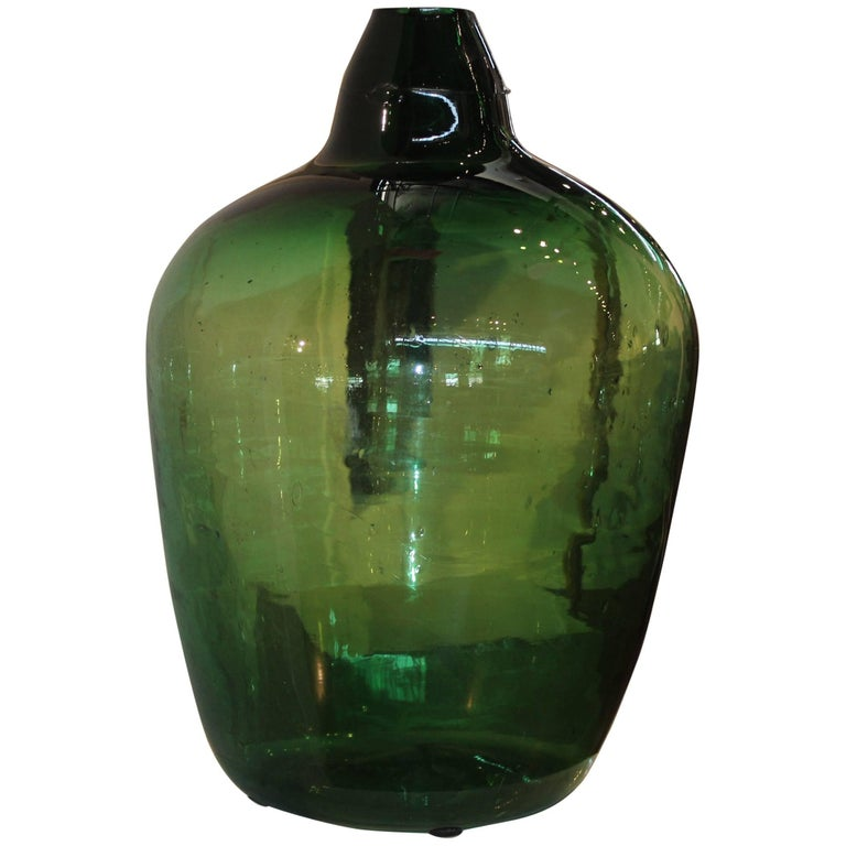 Antique French Dame Jeanne Wine Bottle For Sale at 1stdibs