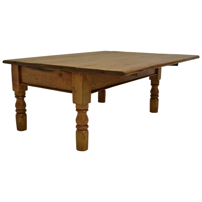 Irish Pine Drop Leaf Coffee Table At 1stdibs