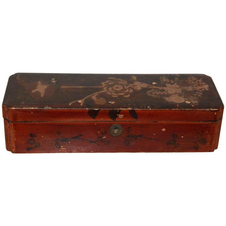 Italian Floral Wooden Jewelry Box